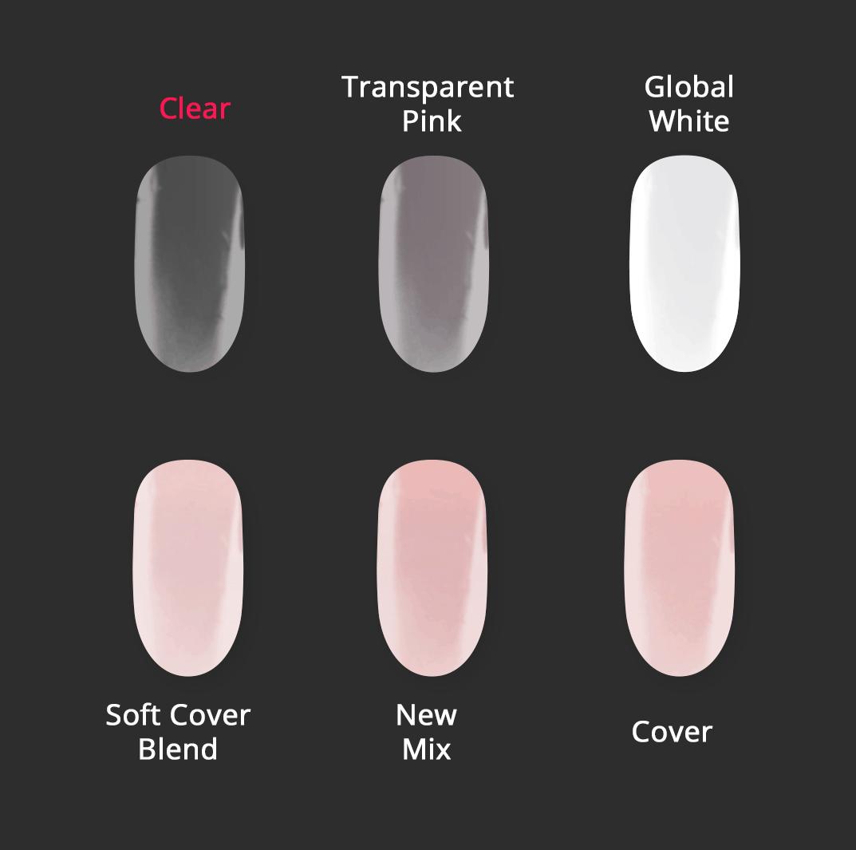 Vergleichsbild Astonishing Acryl Pulver Clear