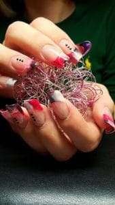 Modellarbeit Acryl - Edge Nails mit French in Marble-Look