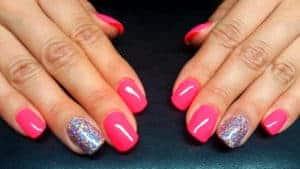 Refill Acryl & Neon Pink mit Glitzer