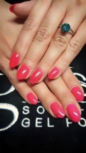 Refill Acryl & gelish Sommerfarbe mit etwas Glitzer