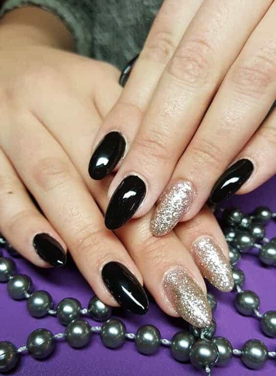 Refill Acryl schwarz & Glitzer