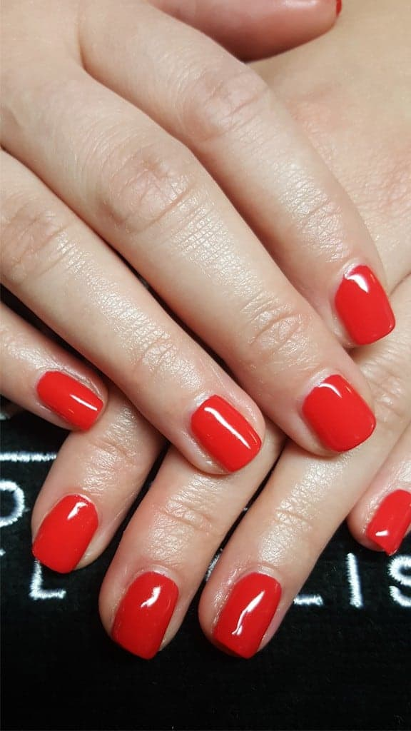 gelish in rot