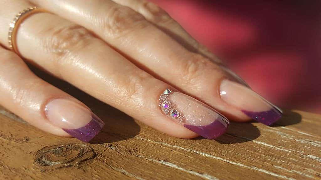 Violette Acrylnägel Purple Temptation